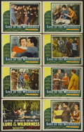 "Movie Posters:Adventure, Lure of the Wilderness (20th Century Fox, 1952). Lobby Card Set of8 (11"" X 14""). Adventure.... (Total: 8 Items)"