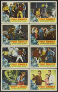 """Movie Posters:Adventure, Port Sinister (RKO, 1953). Lobby Card Set of 8 (11"""" X 14"""").Adventure.... (Total: 8 Items)"""