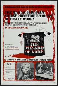 """The Wizard of Gore (Mayflower, 1970). One Sheet (27"""" X 41""""). Horror"""