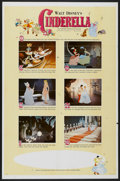 "Movie Posters:Animated, Cinderella (Buena Vista, R-1965). One Sheet (27"" X 41"") Style B.Animated...."