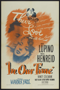 "In Our Time (Warner Brothers, 1944). One Sheet (27"" X 41""). Drama"
