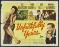 "Movie Posters:Comedy, Unfaithfully Yours (20th Century Fox, 1948). Half Sheet (22"" X 28""). Comedy...."