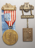 Military & Patriotic:Civil War, 1914 New York Andersonville Medal and Badge.... (Total: 2 Items)