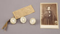 Military & Patriotic:Civil War, Confederate Major General John B. Floyd Fort Donelson Relics.... (Total: 4 Items)