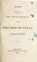 Books, Laws Passed by the Ninth Congress of the Republic of Texas....
