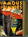 Golden Age (1938-1955):Miscellaneous, Famous Funnies #145-156 Bound Volume (Eastern Color, 1945-46)....
