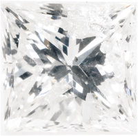 Unmounted Diamond  The radiant-cut diamond measures 5.50 x 5.35 x 4.08 mm and weighs 1.11 carats