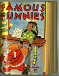 Golden Age (1938-1955):Miscellaneous, Famous Funnies #121-132 Bound Volume (Eastern Color, 1944-45)....