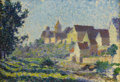 Fine Art - Painting, European:Antique  (Pre 1900), THEO VAN RYSSELBERGHE (Belgian 1862-1926). Village Roofs,circa 1900. Oil on panel. 7-3/4 x 11 inches (19.7 x 27.9 cm). ...