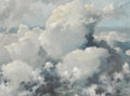 Fine Art - Painting, American:Modern  (1900 1949)  , ERIC SLOANE (American 1905-1985). Parting Clouds, circa1930. Oil on masonite. 19-1/4 x 25-1/2 inches (48.9 x 64.8 cm). ...