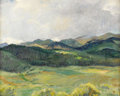 Fine Art - Painting, American:Modern  (1900 1949)  , JOSEPH HENRY SHARP (American 1859-1953). Taos Landscape,1934. Oil on panel. 16 x 20 inches (34.24 x 42.8 cm). Signed at...