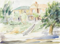 Texas:Early Texas Art - Impressionists, EUGENE THURSTON (1896-1993). House on N. El Paso Street,1954. Watercolor . 11in. x 15in.. Signed lower right. This pa...