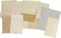 C.S.A. Lot of Eight Autograph Letters Signed consisting of: R. M. Thorn- Soldier letter, 3 pages, Camp Griggs, VA [sic...