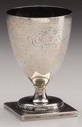 """Military & Patriotic:Civil War, Confederate Coin Silver Cup With """"CSA"""" Engraving. This simply-styled, coin silver drinking cup was owned by Confederate Gene..."""