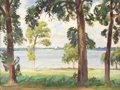 Texas:Early Texas Art - Regionalists, OLIN TRAVIS (1888-1975). Untitled White Rock Lake. Oil on canvas.18in. x 24in.. Signed verso. A typical Olin Travis paint...