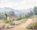 Texas:Early Texas Art - Impressionists, DOLLIE NABINGER (1905-1988). Untitled Mountain Ranch. Oil oncanvasboard. 16in. x 20in.. Signed lower left. ...