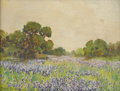 Texas:Early Texas Art - Regionalists, BERLA EMEREE (1899-1948). Untitled Bluebonnet Landscape. Oil onartist board. 9in. x 12in.. Signed lower left. A letter of...