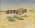 Texas:Early Texas Art - Regionalists, BERLA EMEREE (1899-1948). New Mexico Adobe. Oil on canvas.24in. x 30in.. Signed lower right. Signed and titled verso. ...