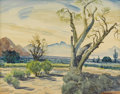 Texas:Early Texas Art - Regionalists, GEORGE FREDERICK (b. 1889). Untitled, 1949. Watercolor. 14in. x18in.. Signed and dated lower left. George Frederick was a...