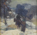 Paintings, CARL R. KRAFFT (American 1880-1938). Homeward Bound, 1925. Oil on board. 17 x 18-1/2 inches (43.2 x 47 cm). Signed lower...