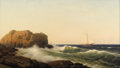 Fine Art - Painting, American:Antique  (Pre 1900), WILLIAM FREDERICK DE HAAS (American 1830-1880). A Fine Day OnThe Cliffs Of Star Island, Isles Of Shoals, NH, 1878. Oil ...