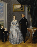 Paintings, A. SPULAK (Czech circa 1830-1890). A Family Portrait. Oil on canvas. 32 x 25-1/2 inches (81.3 x 64.8 cm). Signed at lowe...