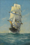 Fine Art - Painting, American:Antique  (Pre 1900), MILTON JAMES BURNS (American 1853-1933). Old Whaler, AForty-Niner. Oil on board. 18 x 13 inches (45.7 x 33 cm).Signed ...