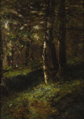 Fine Art - Painting, European:Antique  (Pre 1900), NARCISSE VIRGILE DIAZ DE LA PENA (French 1808-1876). ForestTrail. Oil on panel. 11-3/4 x 8-1/2 inches (30 x 22 cm). Sig...