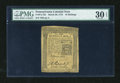 Colonial Notes:Pennsylvania, Pennsylvania March 20, 1773 16s PMG Very Fine 30 EPQ....