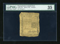 Colonial Notes:Pennsylvania, Pennsylvania April 3, 1772 18d PMG Choice Very Fine 35....