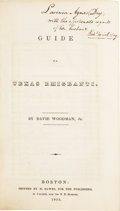 Books:Non-fiction, David Woodman, Jr. Guide to Texas Emigrants. ...