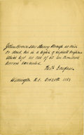 Autographs:Statesmen, Frederick Douglass Autograph Quotation Signed....