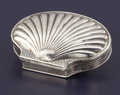 Silver Smalls:Snuff Boxes, A GEORGE I SILVER SNUFF BOX. Possibly George Squire, London,England, 1725-1726. Marks: (lion passant), (leopard's head crow...