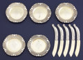 Silver Flatware, American:Gorham, A SET OF AMERICAN SILVER AND SILVER GILT BUTTER KNIVES AND PLATES.Gorham Manufacturing Co., Providence, Rhode Island, circa...(Total: 10 Items)