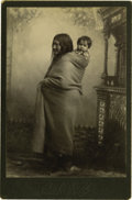 Western Expansion:Indian Artifacts, Cabinet Card of Red Cloud's Wife by O. S. Goff, ca. 1890. ...