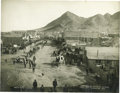 Western Expansion:Cowboy, Imperial Size Photograph Street Scene, Tonopah, Nevada, 1906. ...