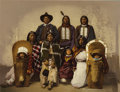 "Western Expansion:Indian Artifacts, Ute Chief ""Sevara"" and Family, Detroit Photographic Co., 1900. ..."