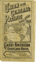 Transportation:Railroad, Union and Central Pacific Railroad Time Table ca 1870s. ...