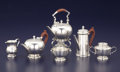 Silver & Vertu:Hollowware, AN ENGLISH MINIATURE SIX-PIECE SILVER TEA SET. Adie Brothers Ltd., Birmingham, England, 1949-1951. Marks: (lion passant), (a... (Total: 6 Items)
