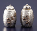 Silver Holloware, American:Other , A PAIR OF AMERICAN SILVER AND MIXED METAL PEPPER SHAKERS. Dominick& Haff, New York, New York, 1880. Marks: (oval withD&H... (Total: 2 Items)