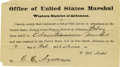 Western Expansion:Cowboy, Document Signed Indicting Edward Fulsom for Murder, Later Hanged,ca. 1880s. ...