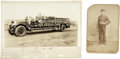 Photography:Cabinet Photos, Lot of Two Photographs a Fire Truck and Fire Man ca 1890s-1900s-... (Total: 2 Items)