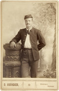 Military & Patriotic:Indian Wars, Cabinet Card Photograph of Indian Wars Soldier Kansas ca 1880s - ...