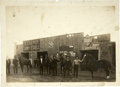 Photography:Cabinet Photos, Cabinet Photograph of Livery Stable with Many Advertising Signs ca1890s-1900s - ...