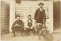 Western Expansion:Cowboy, Small Cabinet Card Photograph of Sheriff with Dog ca 1890s -...