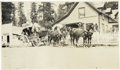 Western Expansion:Goldrush, Photograph of Stagecoach in Front of Austin House ca early 1900s-...
