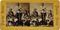 """Photography:Stereo Cards, """"Three Ute Indian Braves"""", Stereoview,..."""