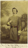 Autographs:Military Figures, Confederate Major John F. O'Brien Signed Carte de Visite,...
