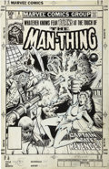 Original Comic Art:Covers, Bob Wiacek - The Man-Thing #8 Cover Original Art (Marvel, 1981)....