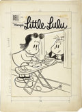 Original Comic Art:Covers, Irving Tripp - Marge's Little Lulu #96 Cover Original Art (Dell,1958).... (Total: 2 Items)